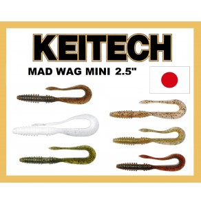 "Keitech Mad Wag Mini Grub 3,5"" 10pcs"