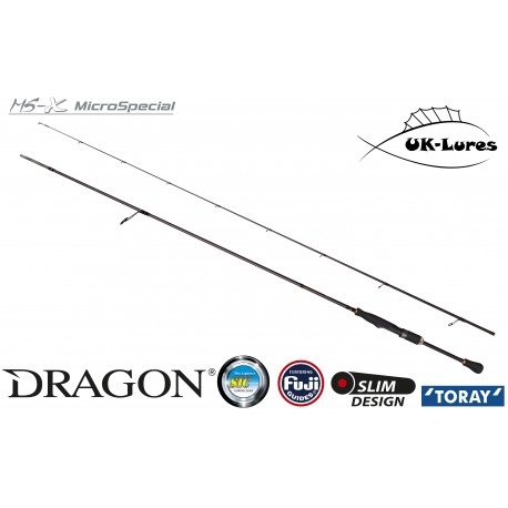 Lure Rod Dragon CXT MS-X 1.90m 1-10g