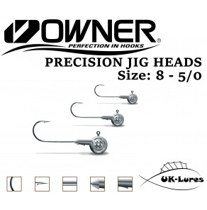 Jig Heads Owner Micro Precision 5pcs Owner Hooks