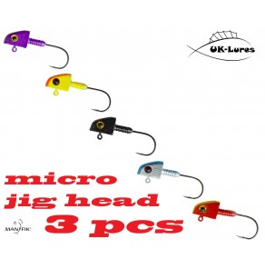 Manyfik Painted Micro Jig Heads