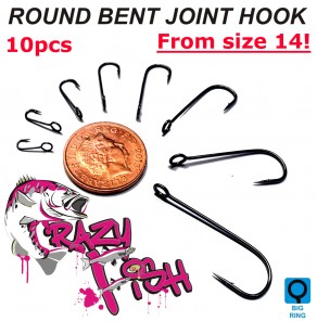 Crazy Fish round bent joint HOOKS
