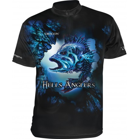 Breathable Hells Anglers Dragon T-Shirt ClimaDRY